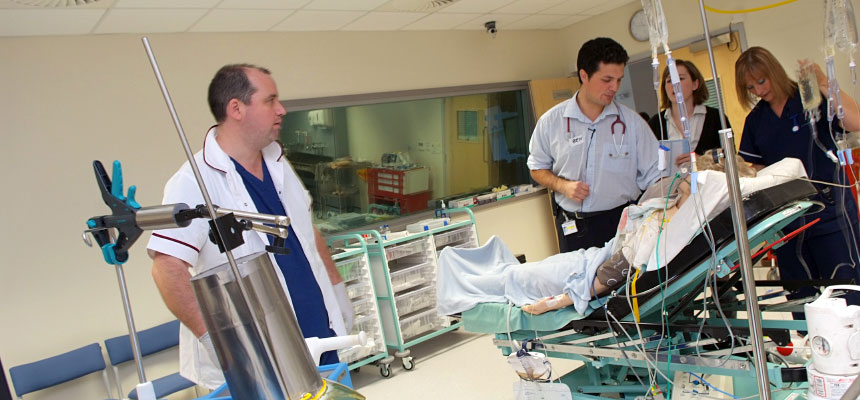Training facilities in Torbay Hospital's Horizon Centre simulation suite.