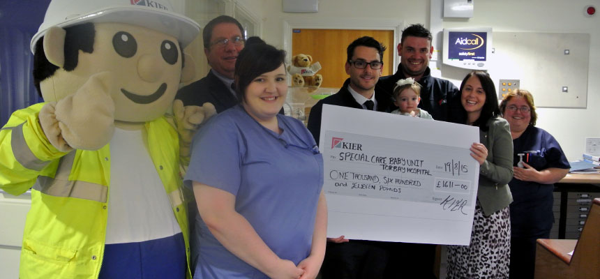 Kier footballers raise over £1,600 for baby unit