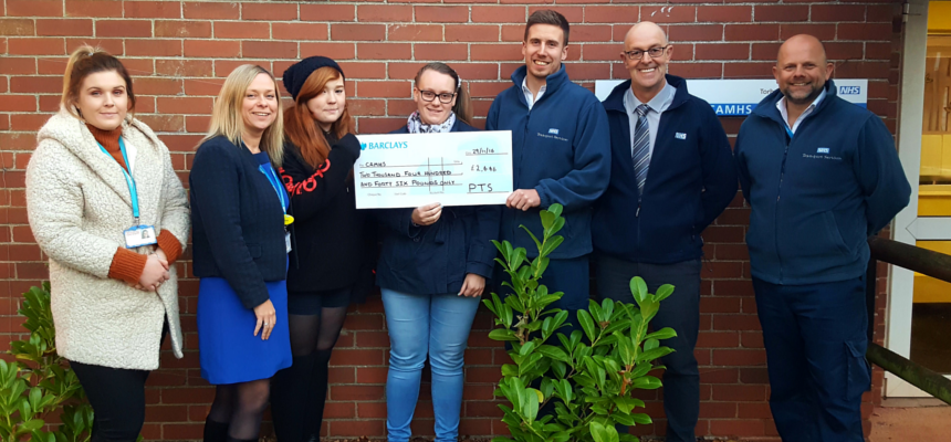 Patient Transport team raise £2,466 for Torbay CAMHS