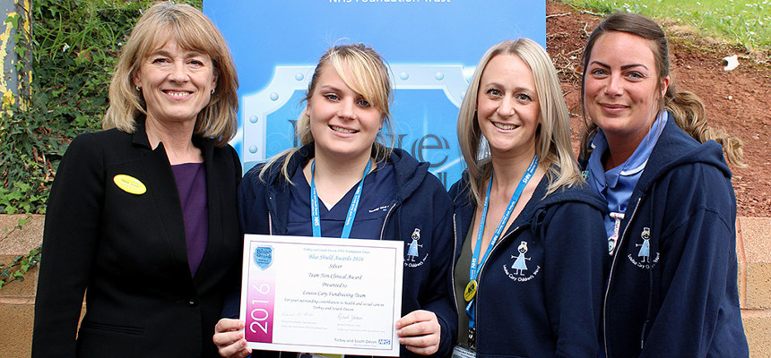 Louisa Cary Fundraising team with Chief Nurse Jane Viner