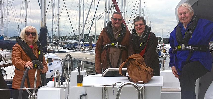 Photo: Carers on a boat