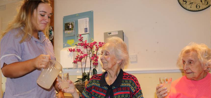 Photo: Hydration awareness in care homes