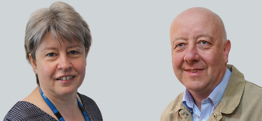 Photo: TSDFT CEO,Liz Davenport, and Torbay Council Leader Steve Darling