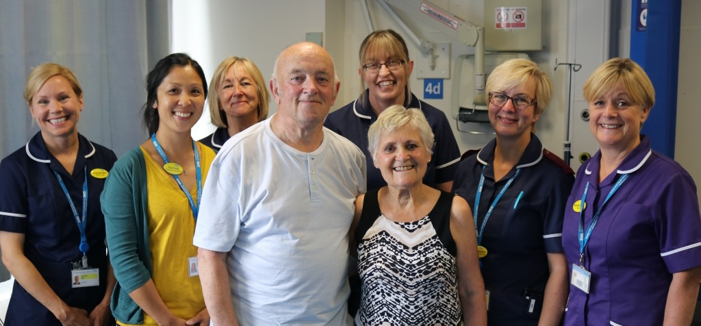 Lynne Blowers (patient), Eric Blowers (patient's husband), Dr Lisa Yung (Consultant Cardiologist), Joanne Passmore (Heart Failure Specialist Nurse), Michelle O'Neill (MAAT/TAIRU Matron), Elaine Preston (MAAT sister), Helen Greedus (MAAT Sister), Charlotte Mills (MAAT Sister).