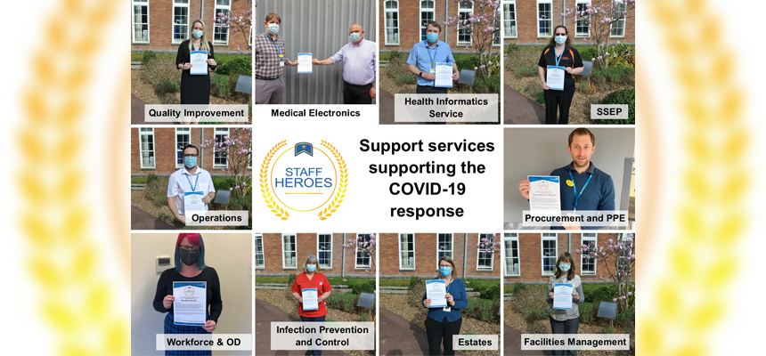 Photo: Featuring some of our Staff Heroes Awards winners
