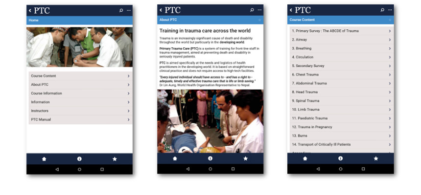 The PTC App is available on both android and iOS devices