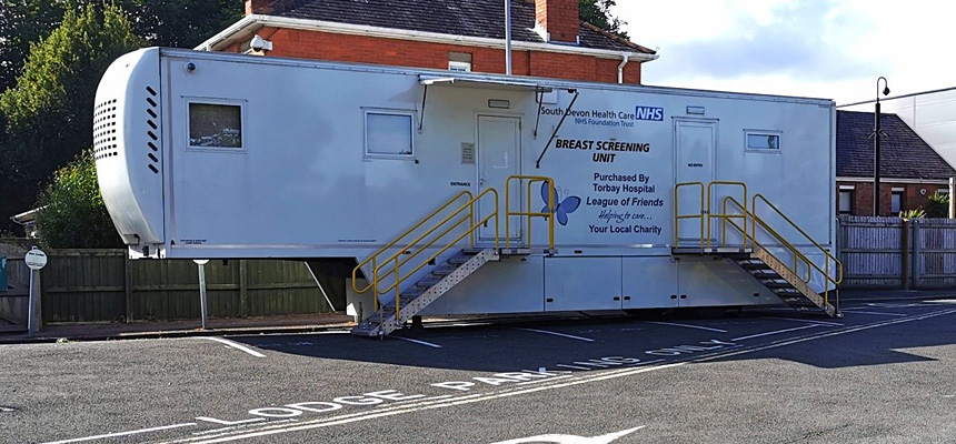 Photo: Breast screening mobile unit