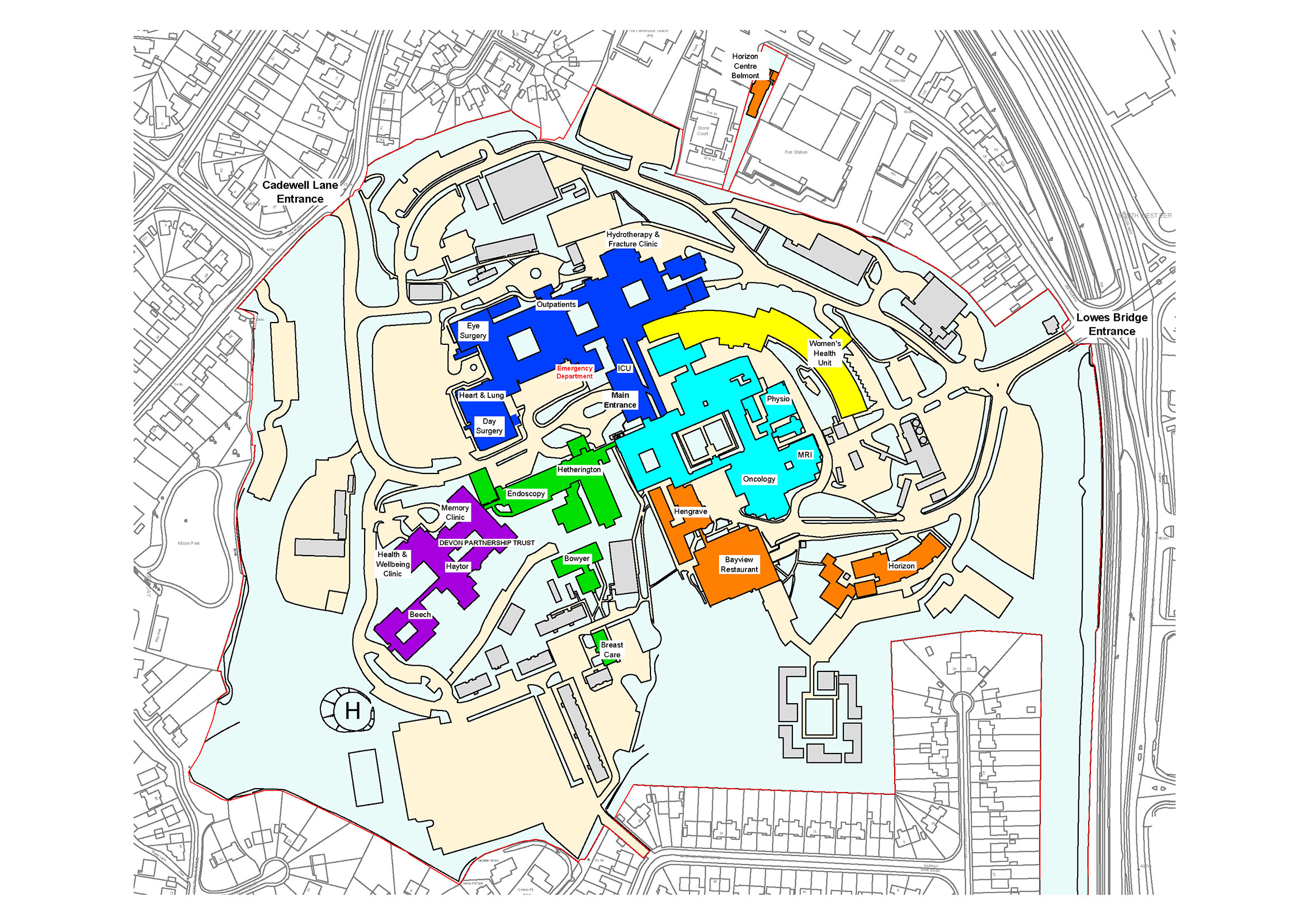 Torbay Hospital maps Torbay and South Devon NHS Foundation Trust