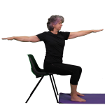 PhysiYo - Sitting warrior 2 side