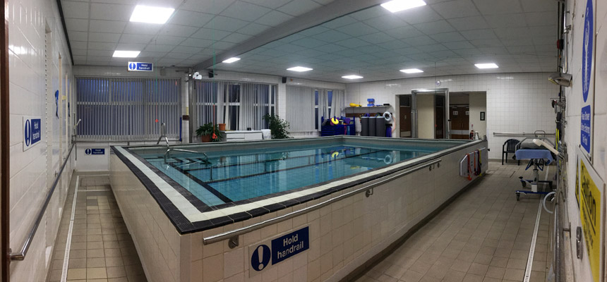 Hydrotherapy pool at Torbay Hospital