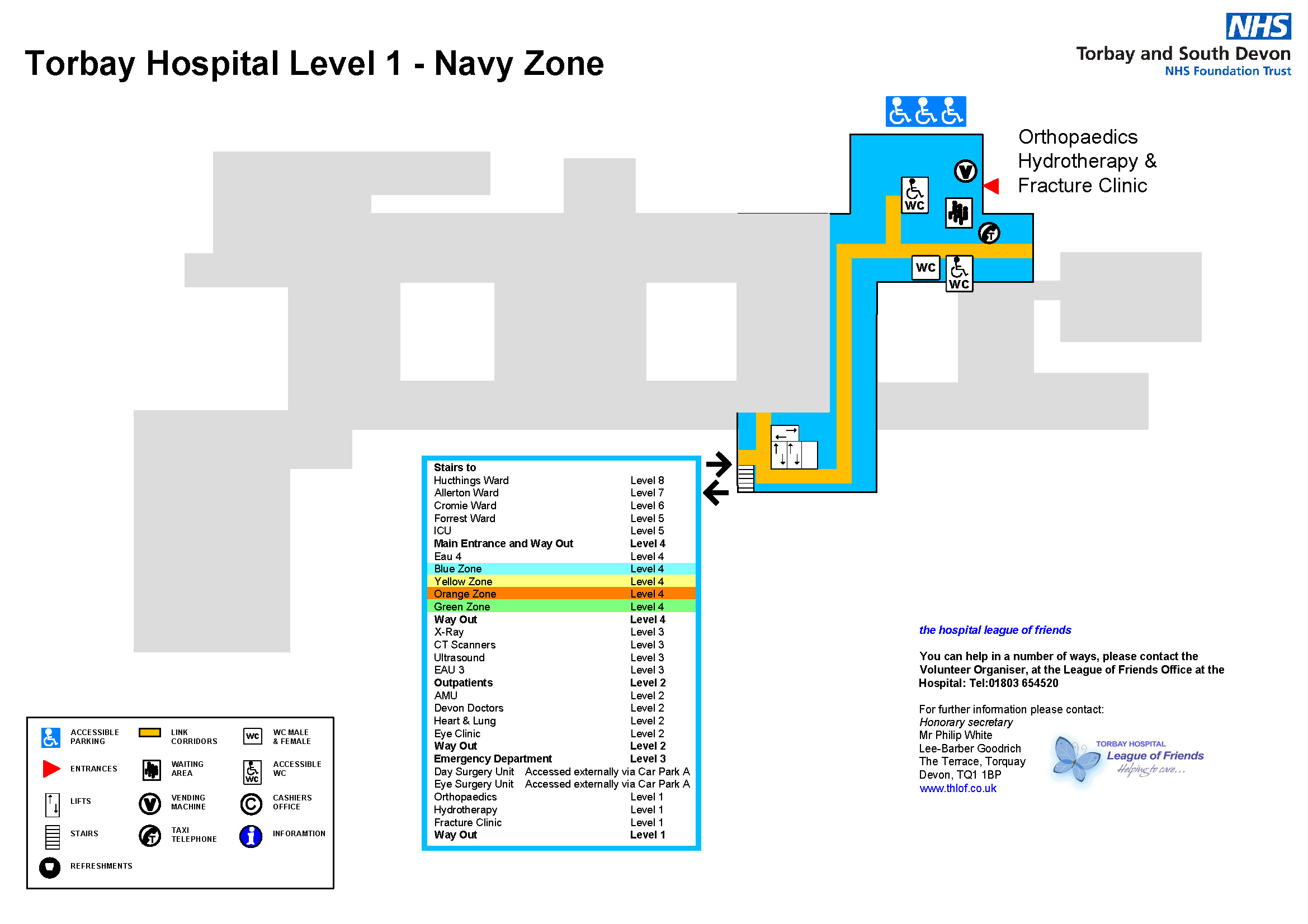 Torbay Hospital Maps And South Devon Nhs Foundation Trust Level 1 Block Diagram Map