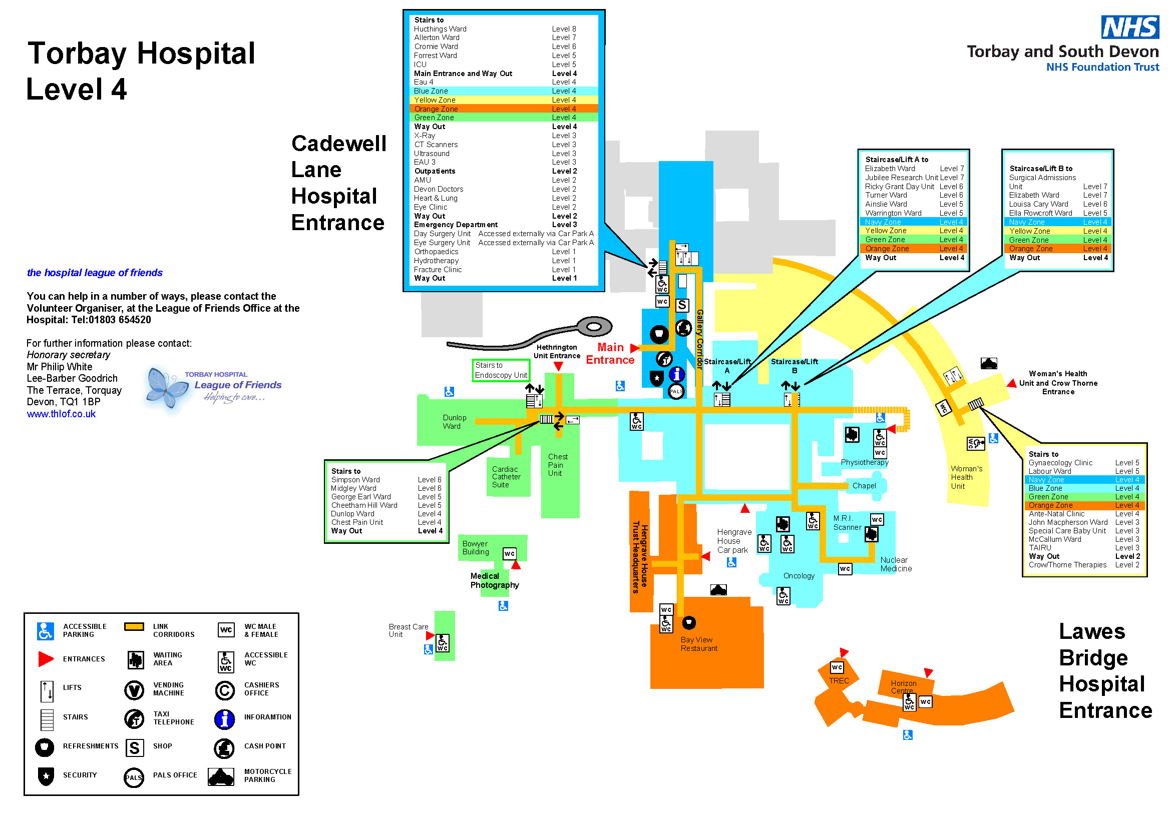 Torbay hospital maps torbay and south devon nhs foundation trust torbay hospital level 4 map malvernweather Gallery